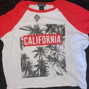California Baseball Style Crop Top!
